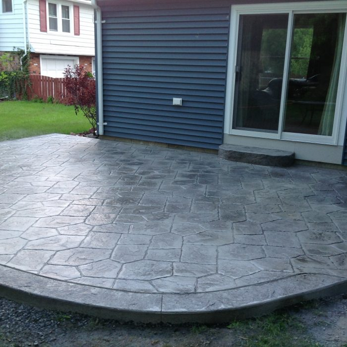 Stamped Concrete Patio Hamburg