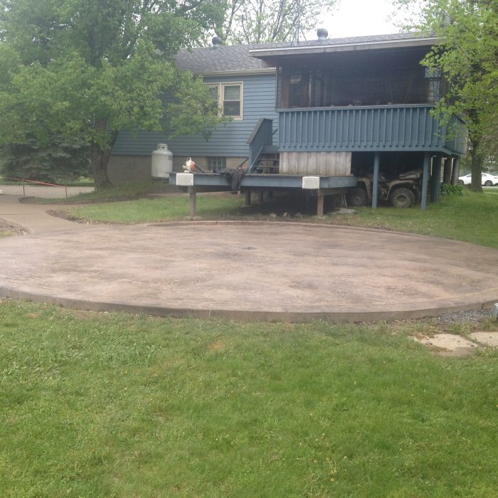Stamped Concrete patio with Exposed Aggregate