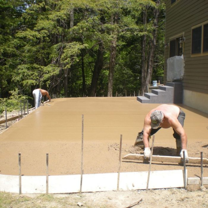 Angola Stamped Concrete Project