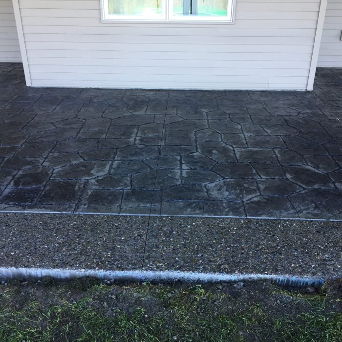 Exposed Aggregate & Stamped Concrete Patio