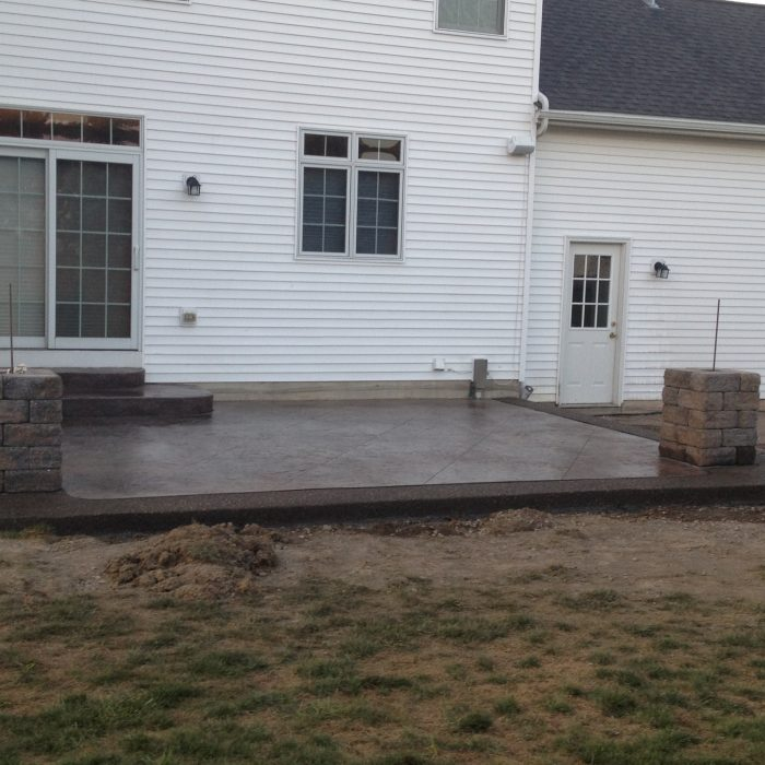 Stamped & Exposed aggregate patios