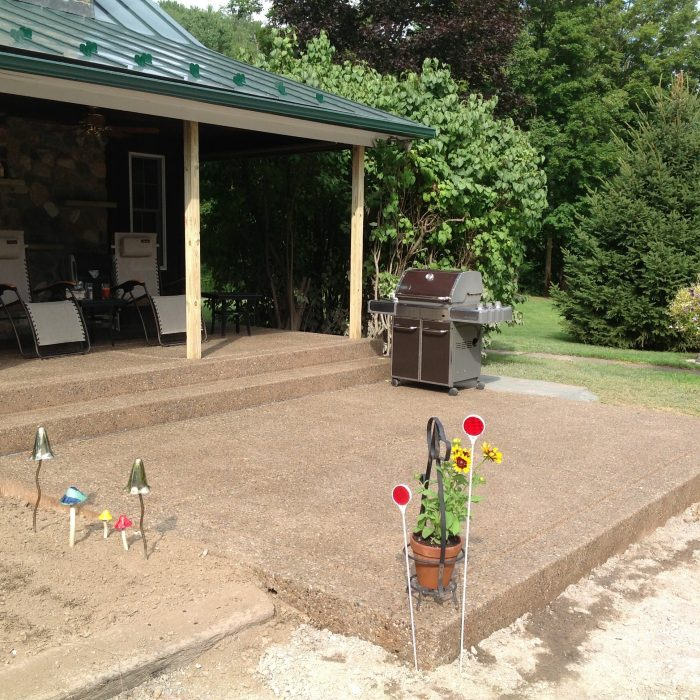 Exposed Aggregate Patio – Springville