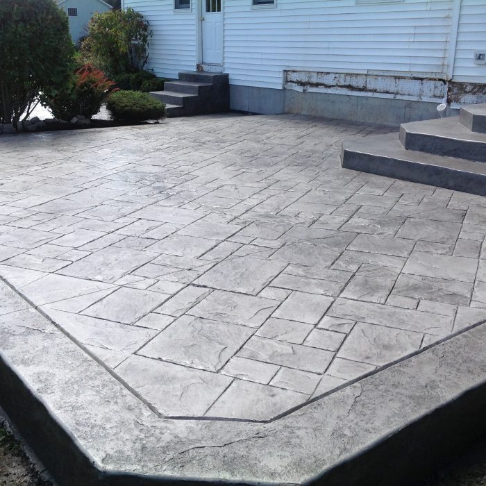 Stamped Concrete Patio Cambria