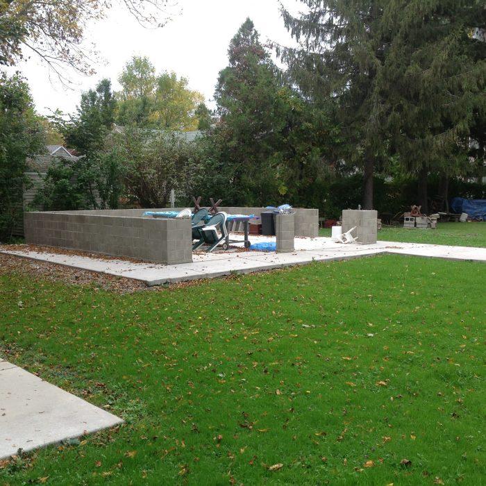 Concrete pad & Block Work