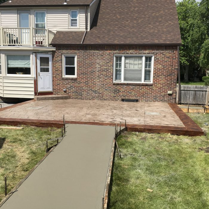 Stamped Concrete patio – Century