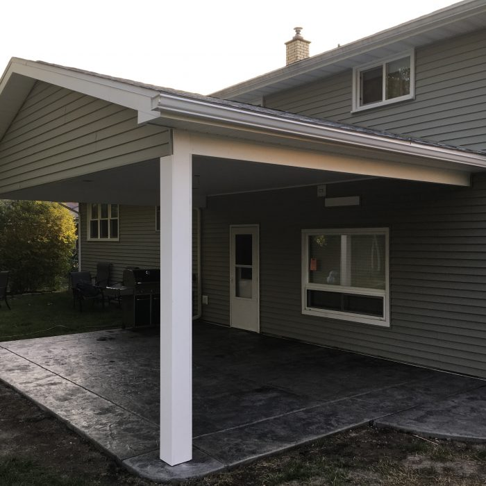 Covered Stamped Patio – Briarhurst