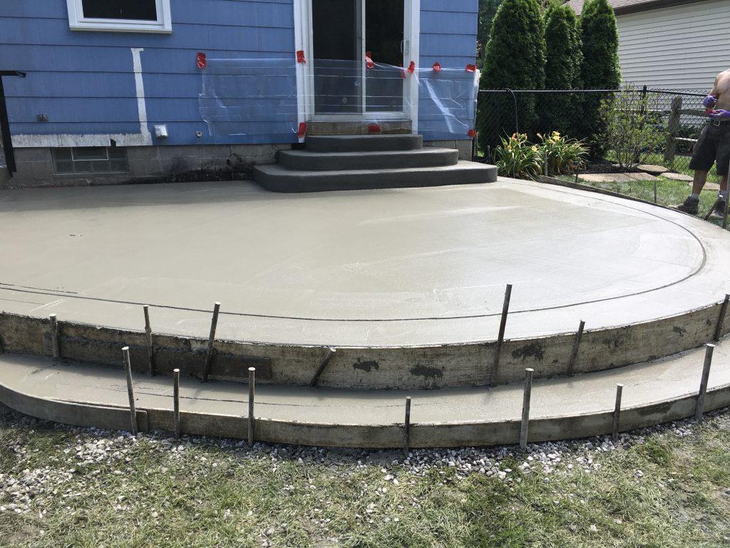 NON Stamped Concrete Patio