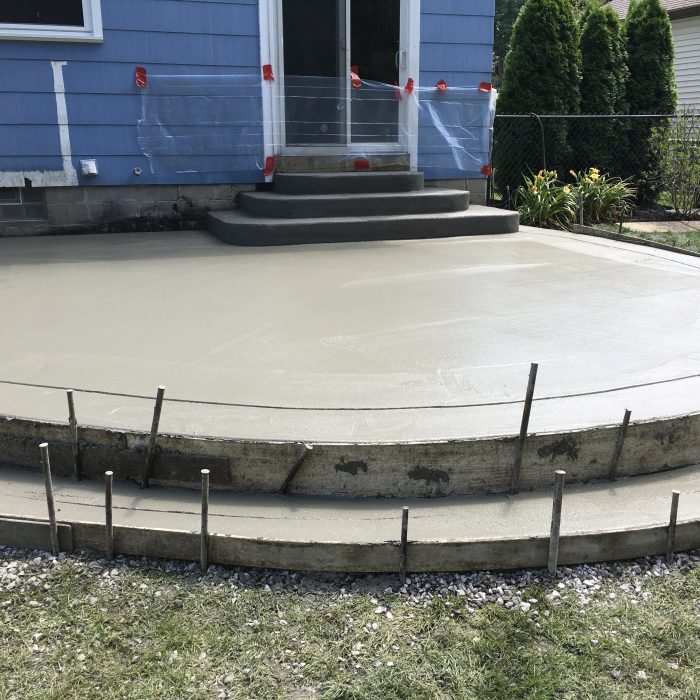 NON Stamped Concrete Patio
