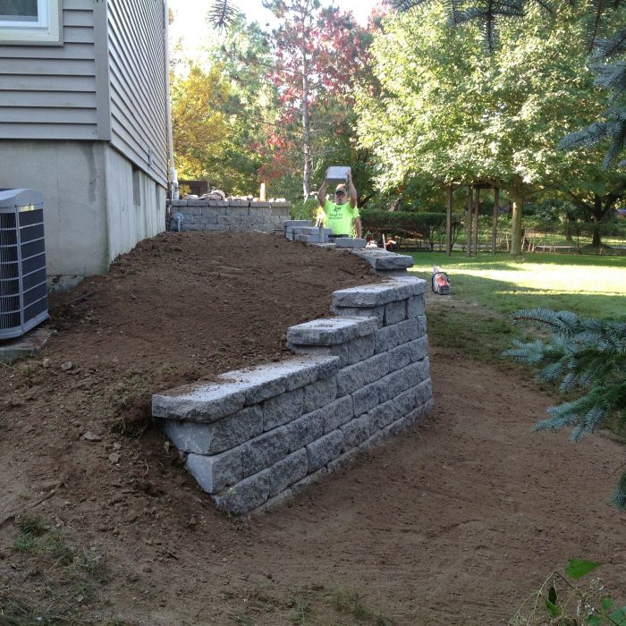 Retaining Wall East Aurora