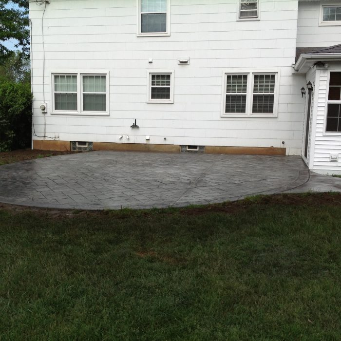 Stamped Concrete Pad Amherst