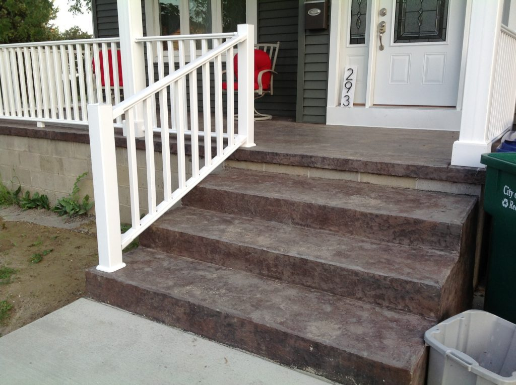Stamped Concrete Porch Concrete Driveways Stamped