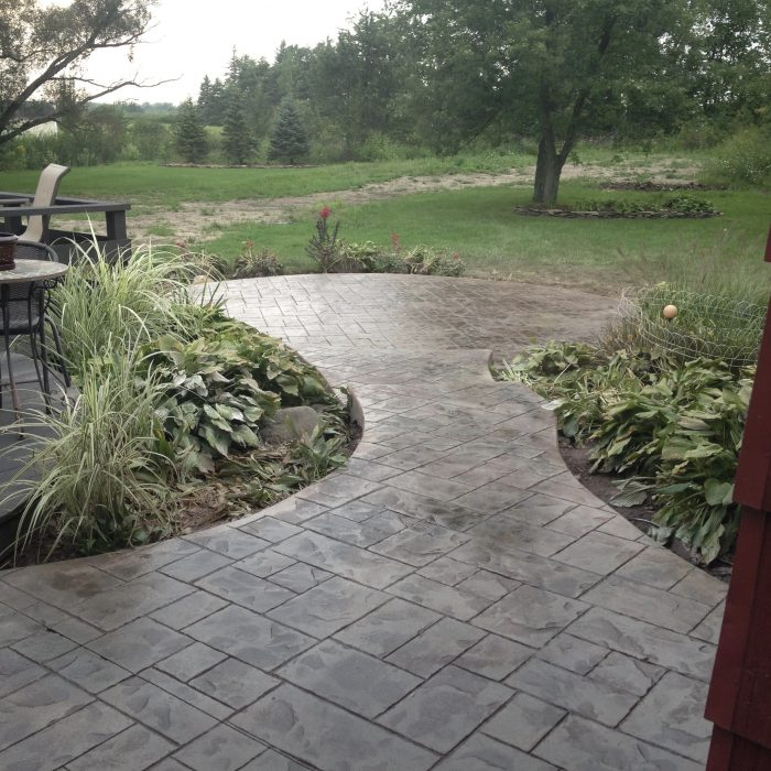 Stamped Concrete Patio Clarence