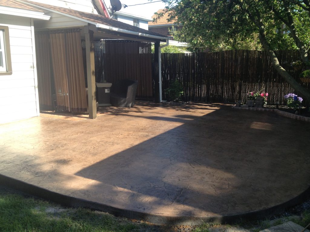 Seamless Concrete Stamp Patio Earth Tone With Charcoal Release