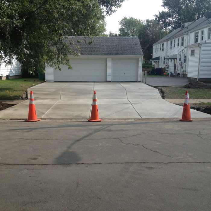 Concrete Driveway & Exposed Aggregate Patio -South Buffalo
