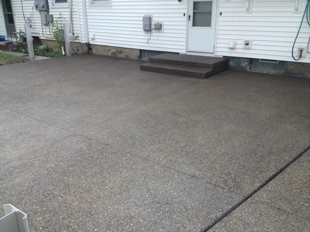 Concrete Driveway U0026 Exposed Aggregate Patio  South Buffalo