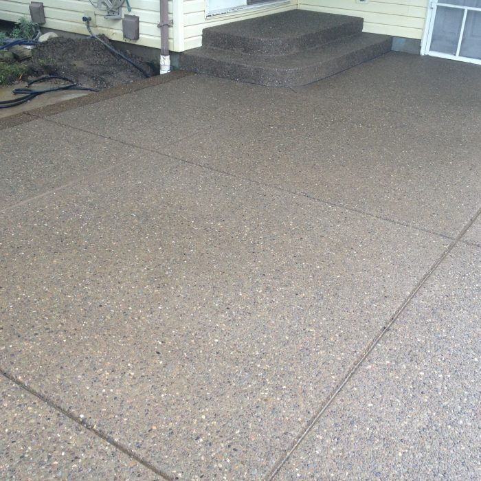 Exposed Aggregate patio & steps – Alden