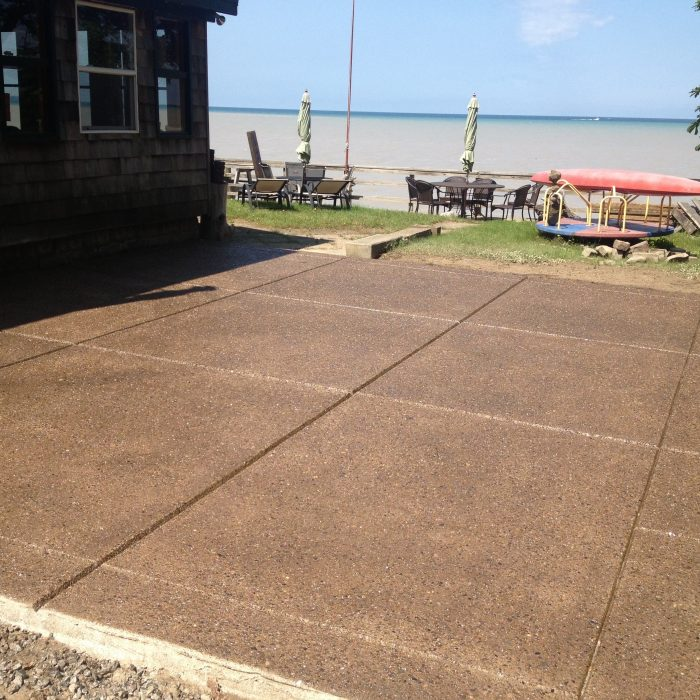 Exposed Aggregate Patio – Beach front