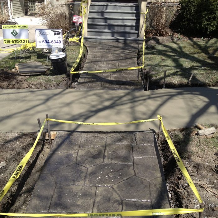 Stamped Concrete Side walk