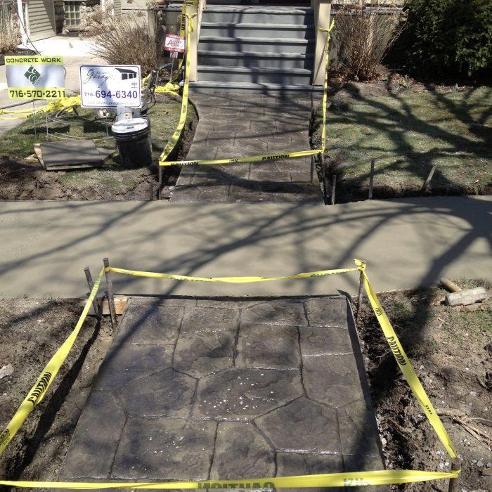 Stamped Concrete Side walk