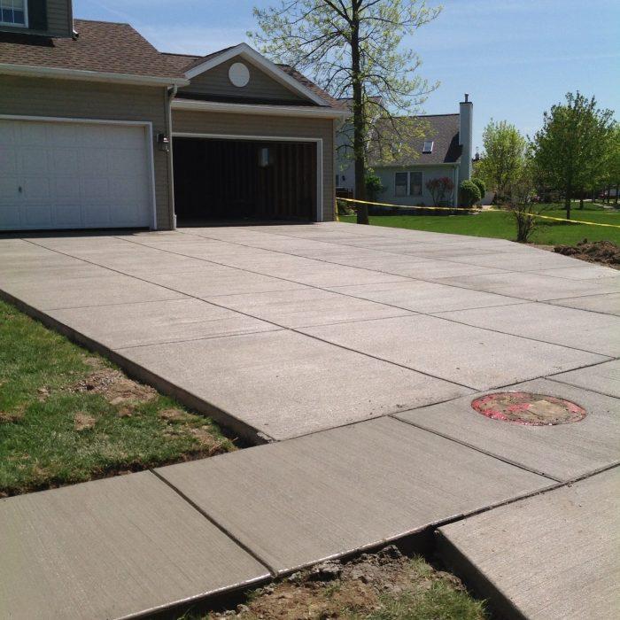 Concrete Driveway & Garage Addition – Lancaster