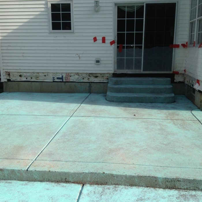 Exposed Aggregate Patio during process – Lancaster