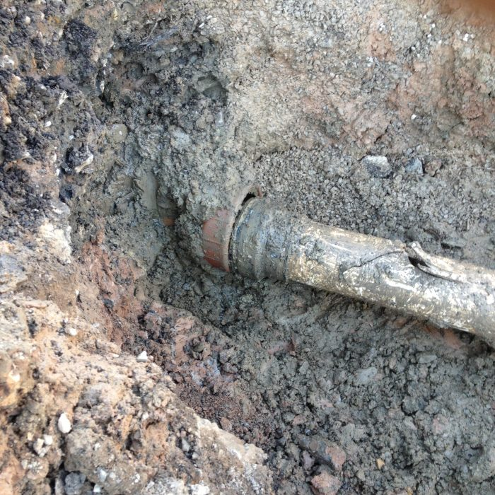 Commercial site work pipes