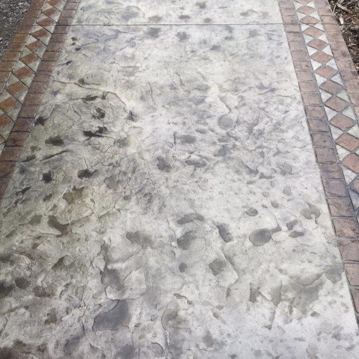 Stamped Concrete Walk