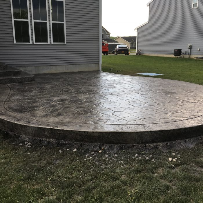 Circular Stamped Concrete Patio