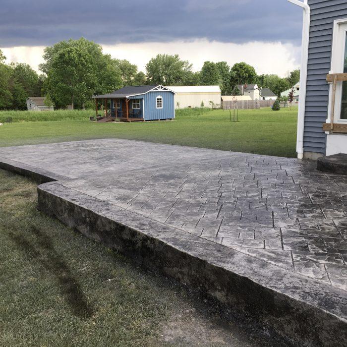 Multi-level Stamped Concrete Patio