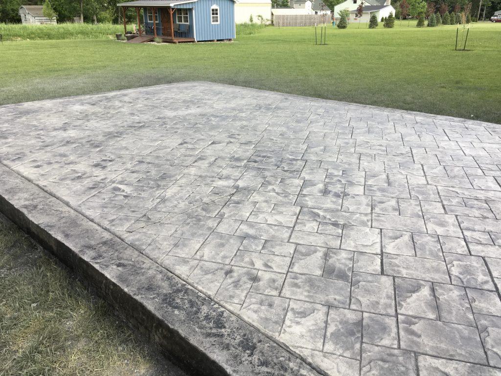 Multi Level Stamped Concrete Patio Concrete Driveways