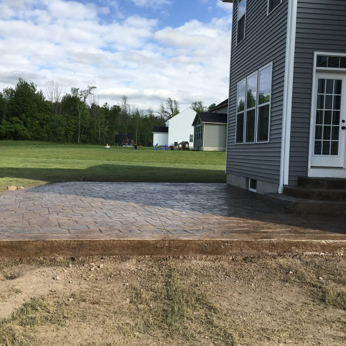 Stamped Concrete Patio w/ Steps