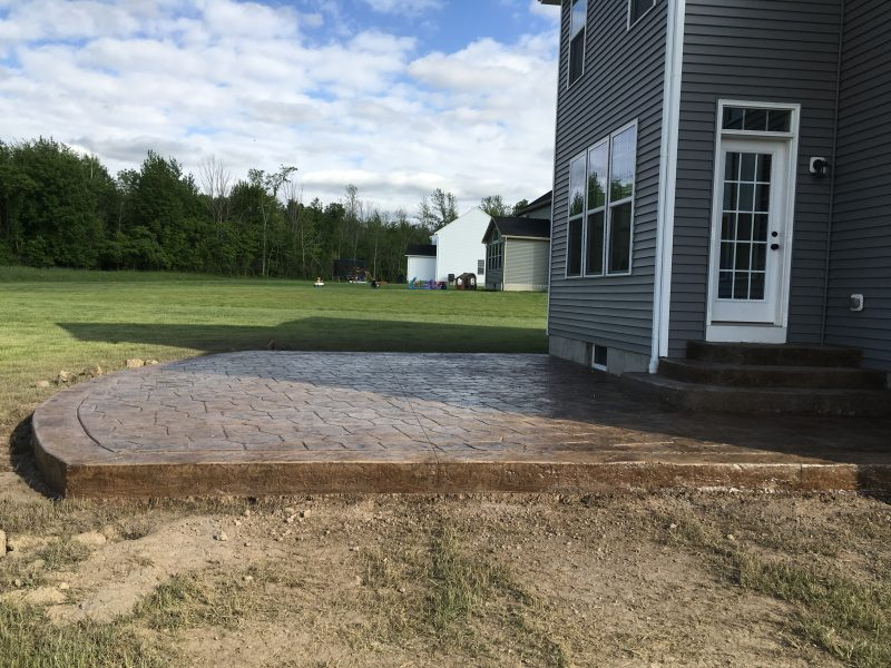 Stamped Concrete Patio w/ Steps
