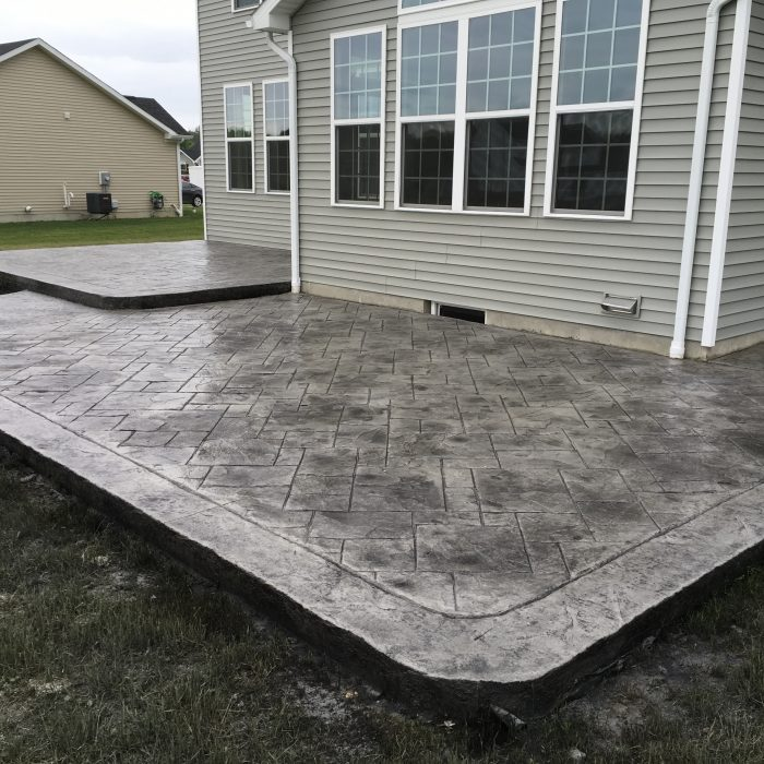 Multi Level Stamped Concrete Patio