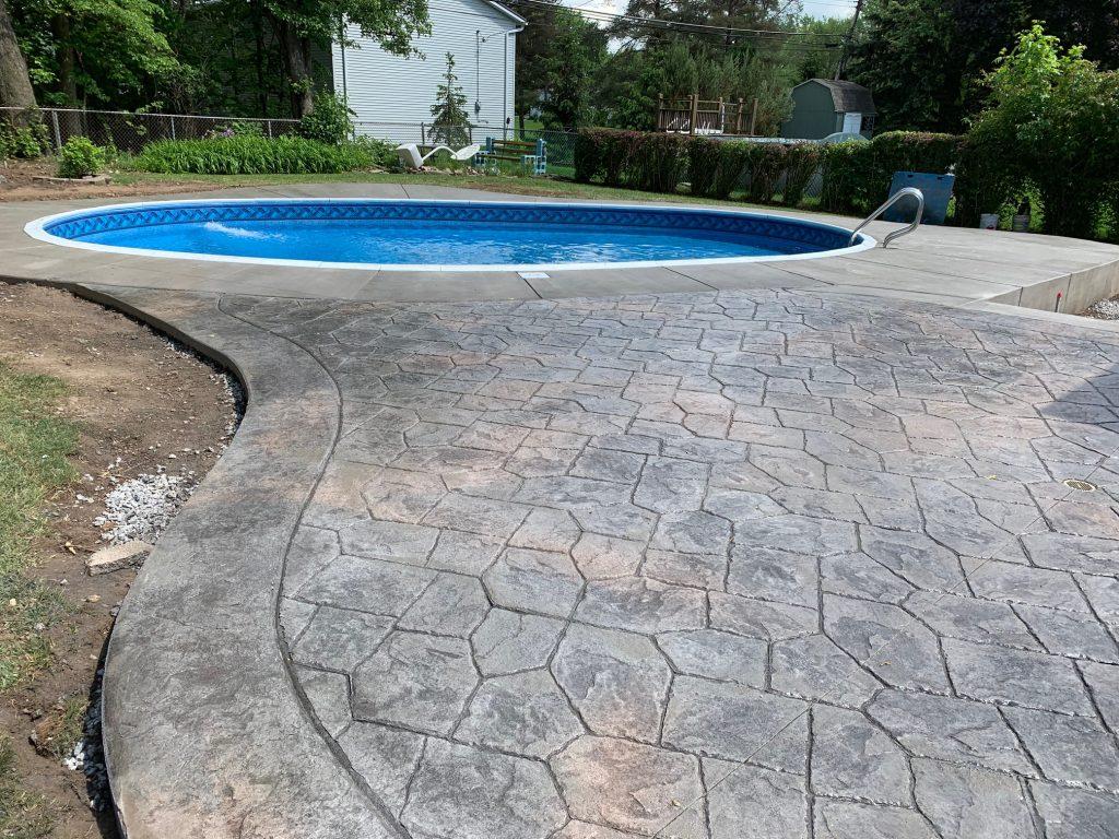 Outdoor Kitchen Amp Stamped Concrete Patio Concrete