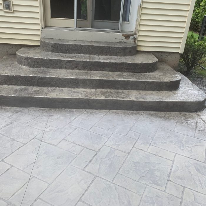 Stamped Patio with steps
