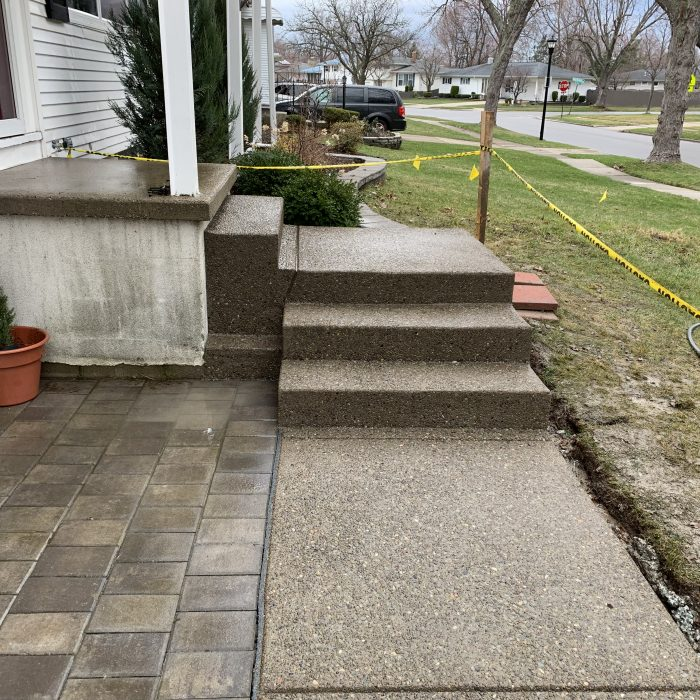 Sidewalk & Stairs Exposed Aggregate
